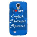 I Love My English Springer Spaniel Pawprint Galaxy S4 Case