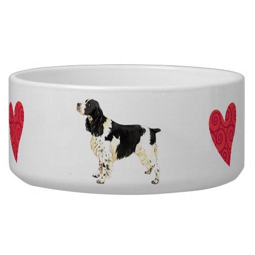 I Love my English Springer Spaniel Dog Food Bowls