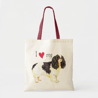 I Love my English Toy Spaniel Canvas Bags