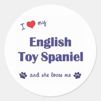 I Love My English Toy Spaniel (Female Dog) Sticker