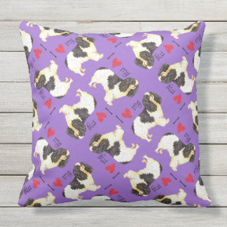 I Love my English Toy Spaniel Outdoor Pillow