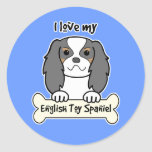 I Love My English Toy Spaniel Classic Round Sticker