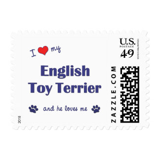 I Love My English Toy Terrier (Male Dog) Postage