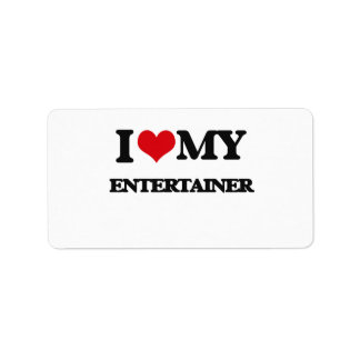 I love my Entertainer Custom Address Label