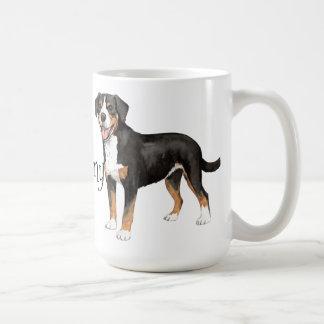 I Love my Entlebucher Classic White Coffee Mug