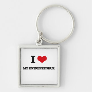 I love My Entrepreneur Silver-Colored Square Keychain
