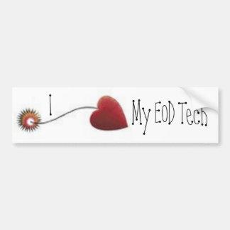 I love my EOD Tech  Heart Bomb Fuse Car Bumper Sticker