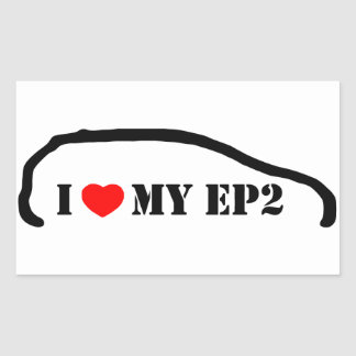 I love my EP2 Rectangle Sticker