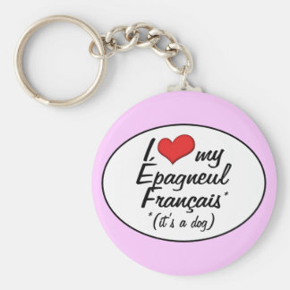 I Love My Epagneul Francais (It's a Dog) Key Chain