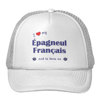 I Love My Epagneul Francais (Male Dog) Trucker Hat