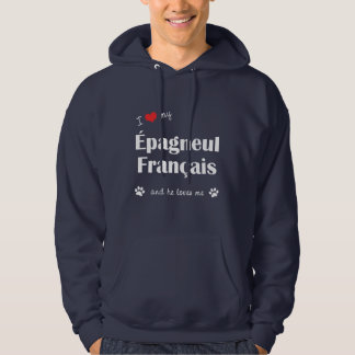 I Love My Epagneul Francais (Male Dog) Hooded Pullover