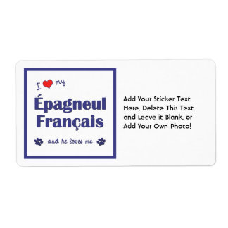 I Love My Epagneul Francais (Male Dog) Shipping Label