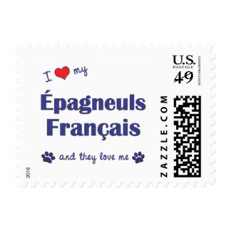I Love My Epagneuls Francais (Multiple Dogs) Stamps