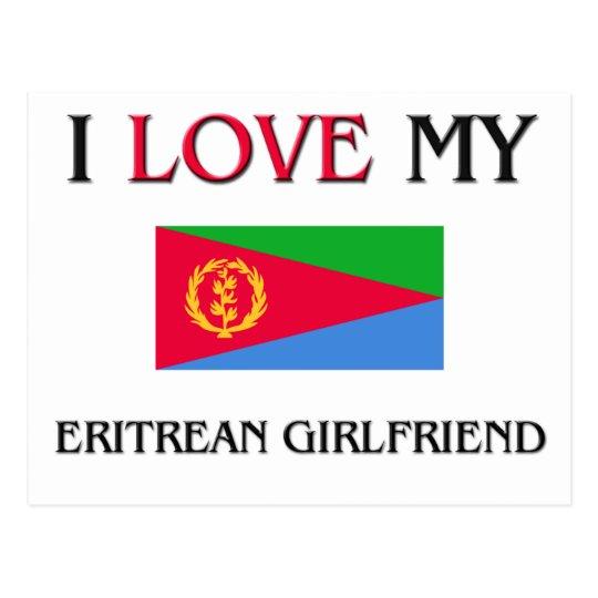I Love My Eritrean Girlfriend Postcard