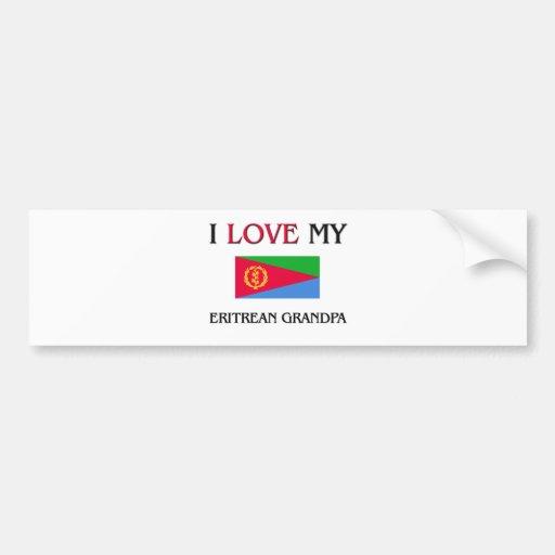 I Love My Eritrean Grandpa Bumper Stickers