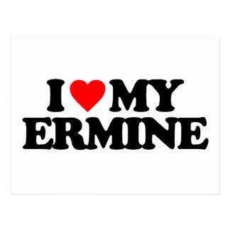 I LOVE MY ERMINE POSTCARDS