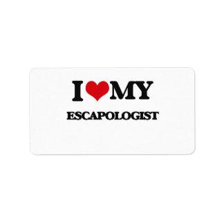I love my Escapologist Address Label