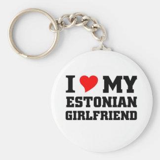 I love my Estonian Girlfriend Keychain