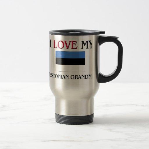 I Love My Estonian Grandma Coffee Mugs