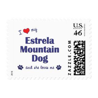 I Love My Estrela Mountain Dog Female Dog Postage