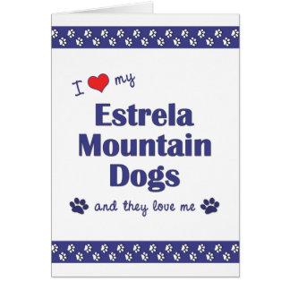 I Love My Estrela Mountain Dogs Multiple Dogs Cards