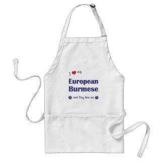 I Love My European Burmese (Multiple Cats) Adult Apron