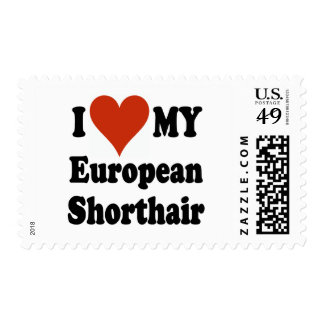 I Love My European Shorthair Cat Merchandise Postage