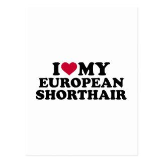I love my European Shorthair cat Postcard