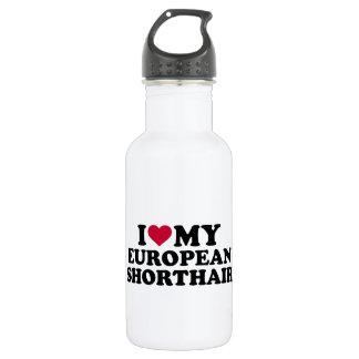 I love my European Shorthair cat Stainless Steel Water Bottle