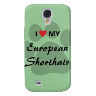 I Love My European Shorthair Pawprint Design Samsung S4 Case