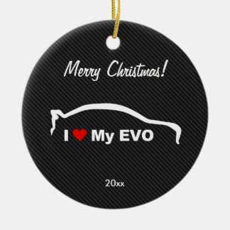 I Love My EVO Ceramic Ornament
