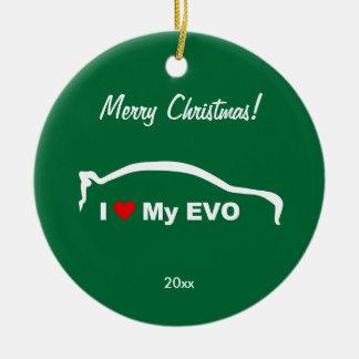 I Love My EVO - personalized Ceramic Ornament