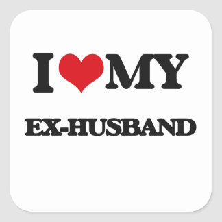 I love my Ex-Husband Square Sticker
