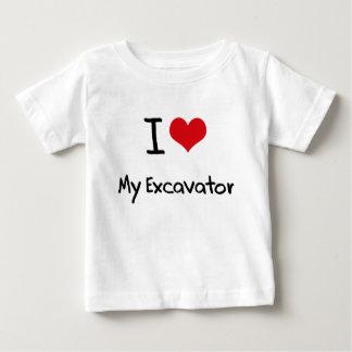 I love My Excavator Baby T-Shirt