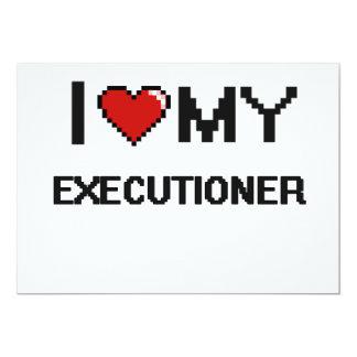 "I love my Executioner 5"" X 7"" Invitation Card"