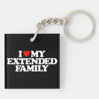 I LOVE MY EXTENDED FAMILY ACRYLIC KEY CHAINS