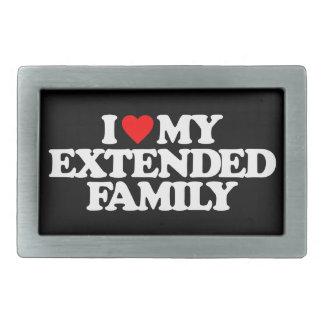 I LOVE MY EXTENDED FAMILY BELT BUCKLE