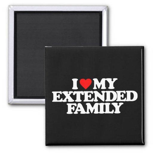 I LOVE MY EXTENDED FAMILY MAGNET