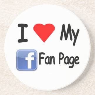 I Love My Face Book Fan Page Coaster
