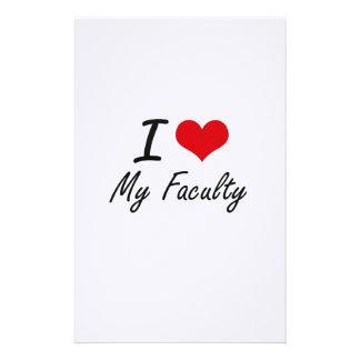 I Love My Faculty Stationery
