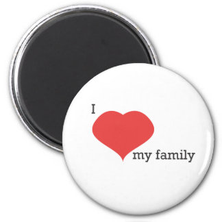 i love my family 2 inch round magnet