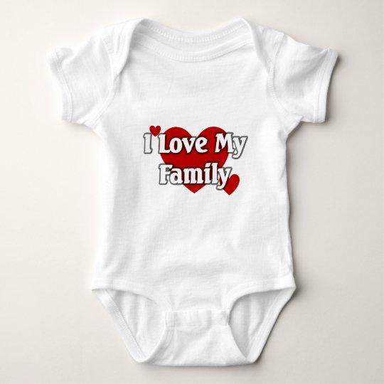 I love my family baby bodysuit