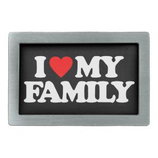 I LOVE MY FAMILY BELT BUCKLE