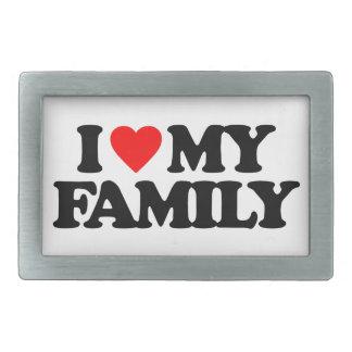 I LOVE MY FAMILY RECTANGULAR BELT BUCKLE