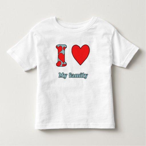 I love my family camiseta