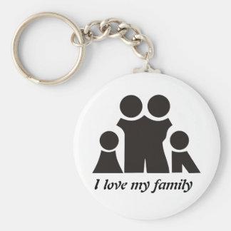 I love my family design keychain