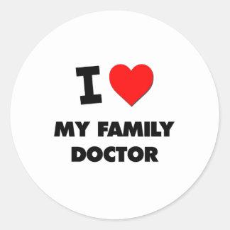 I Love My Family Doctor Sticker