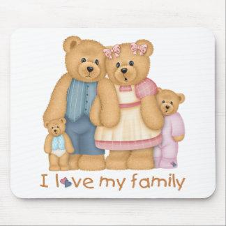 I Love My Family Mousepad