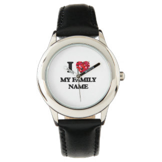 I Love My Family Name Watches