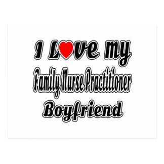 I Love My Family Nurse Practitioner Boyfriend Postcard